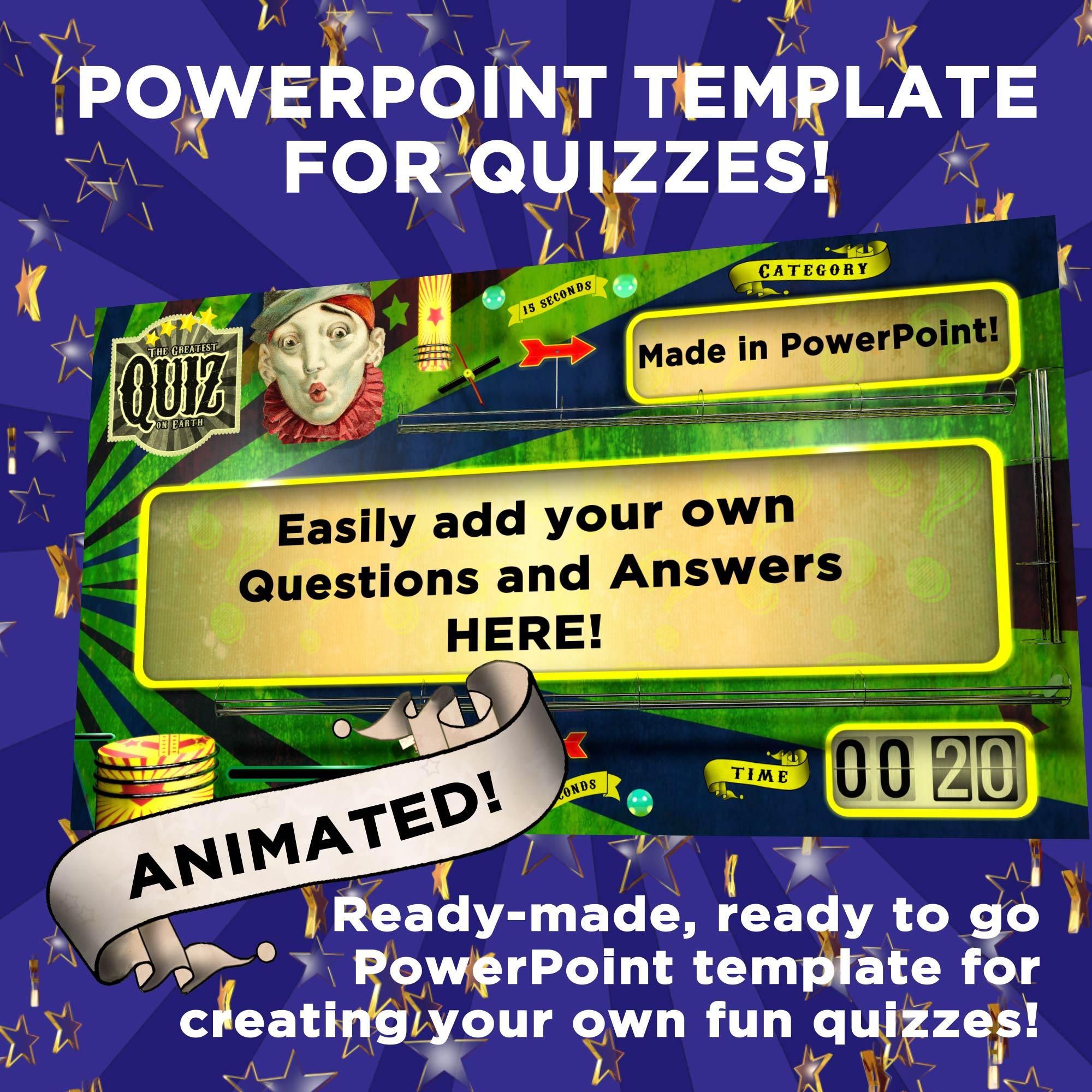 Retro Quiz Powerpoint Template Loop Fountain
